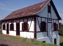 Reconstrução de uma casa em estilo enxaimel no Parque Histórico de Lajeado