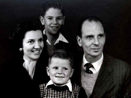Carl Louis Ernest Lohmann, esposa Carla Regeur e filhos Roberto Lohmann e Fernando Lohmann