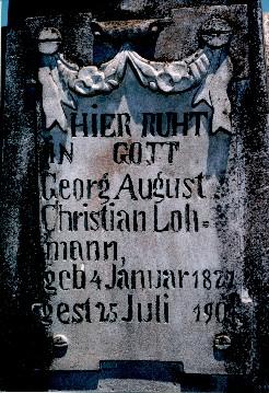 Sepultura de Georg August Christian Lohmann